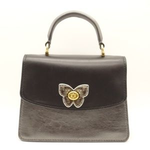 NWT COACH Parker Butterfly Metallic Top Handle Bag